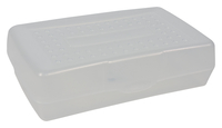 Image for School Smart Pencil Box, 8-3/8 x 5-5/8 x 2-1/2 Inches, Clear from SSIB2BStore