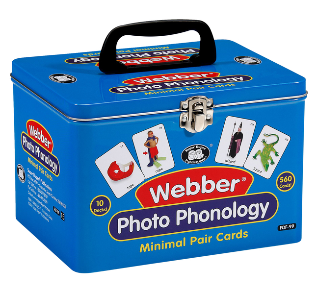 Image for Super Duper Photo Phonology Minimal Pairs Cards Combo, 10 Decks from School Specialty