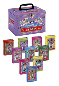 Image for Super Duper Say and Do Action Articulation Cards Combo, 10 Decks from School Specialty