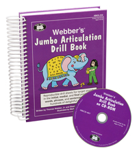 Image for Super Duper Webber's Jumbo Articulation Drill Book, Book and CD-ROM Combo from School Specialty