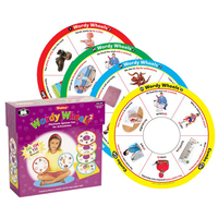 Image for Super Duper Wordy Wheels Electronic Spinner Game for Articulation, Set 2 (SH, CH, and TH) from School Specialty
