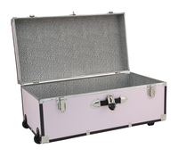 Image for Seward Collegiate Collection Footlocker Trunk with Wheels, 30 Inches, Blush from School Specialty