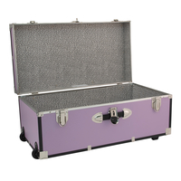 Image for Seward Collegiate Collection Footlocker Trunk with Wheels, 30 Inches, Orchid from School Specialty