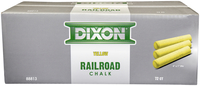 Image for Dixon Crayon Railroad Chalk, Yellow, 72 Pack from School Specialty