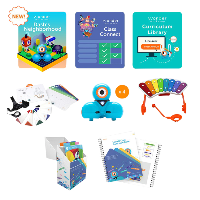 Image for Wonder Workshop Dash STEAM Pack with Class Connect for 1 Year from School Specialty