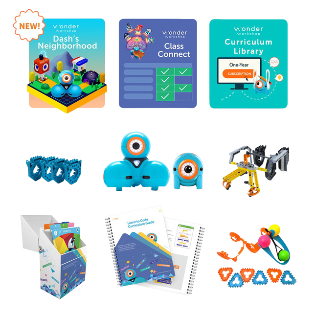 Image for Wonder Workshop Dash and Dot Coach Pack with Class Connect for 2 years from School Specialty