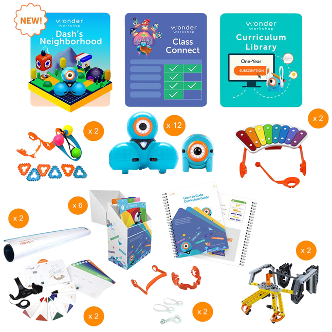 Image for Wonder Workshop K-5 Tech Center Pack with Class Connect for 3 years from School Specialty