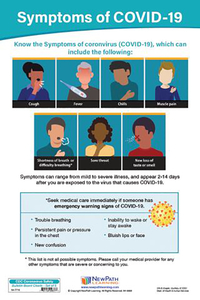 Image for NewPath Learning CDC Coronavirus Safety Signs Set of 5 - English and Spanish from School Specialty