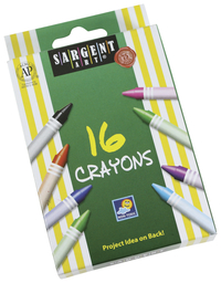 Image for Sargent Art Crayons, Peggable, Set of 16 from SSIB2BStore