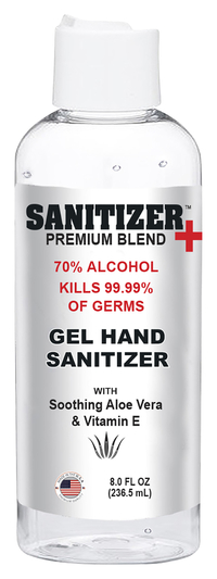 Image for Sanitizer Plus Hand Sanitizer Gel, Flip Top Cap, 8 ounces, Case of 24, 70% alcohol from School Specialty