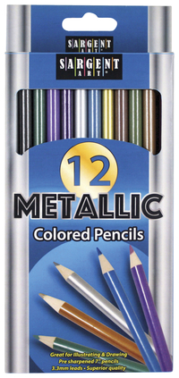 Image for Sargent Art Colored Pencils, Metallic, Set of 12 from School Specialty