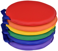 Image for Childcraft Round Cushions, 12 x 12 x 1 Inches, Primary Color, Set of 6 from School Specialty