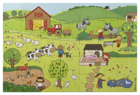 Image for Melissa & Doug Natural Play Giant Floor Puzzle, On The Farm from School Specialty