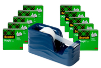 Image for Scotch C20-WAVE Desktop Tape Dispenser with 10 Rolls of Tape, Molten Ink from School Specialty