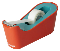 Image for Scotch Classic Tape Dispenser, Coral/Turquoise from School Specialty