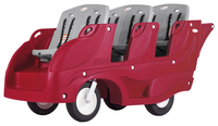 Image for Foundations Gaggle Buggy, 6 Passenger, 85-3/4 x 31 x 45-3/8 Inches, Red/Gray from School Specialty