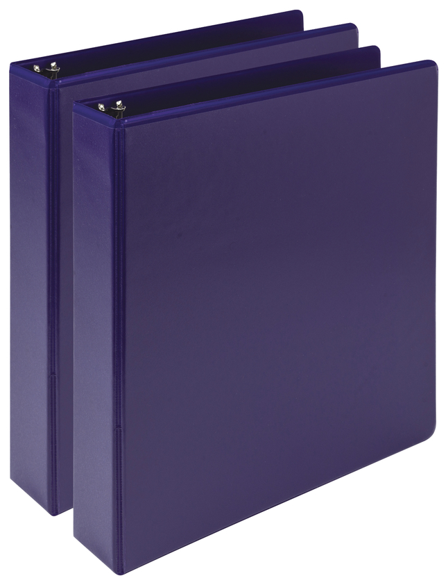 Image for Samsill Earth's Choice Durable Fashion Color 3 Ring View Binder , 1-1/2 Inch Round Ring, Purple, Pack of 2 from School Specialty