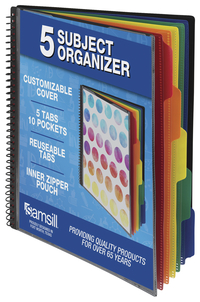 Image for Samsill 5 Subject Spiral File Folder Organizer with Dividers from School Specialty