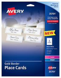 Place Cards, Tent Cards, Item Number 2048300