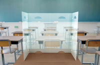 Image for Study Safe Translucent Desktop Divider 12 x 24 x 18 Inches, Pack of 10 from School Specialty