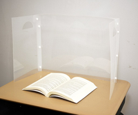 Image for The Pencil Grip Personal Space Translucent Desk Divider, 23-3/5 x 18-9/10 x 11-4/5 Inches, Pack of 24 from School Specialty