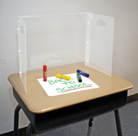Image for The Pencil Grip Personal Space Translucent Desk Divider, 18-1/2 x 14 x 9-1/2 Inches, Pack of 36 from School Specialty