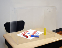 Image for The Pencil Grip Personal Space Clear Desk Divider, 23-3/5 x 18-9/10 x 11-4/5 Inches, Pack of 24 from School Specialty