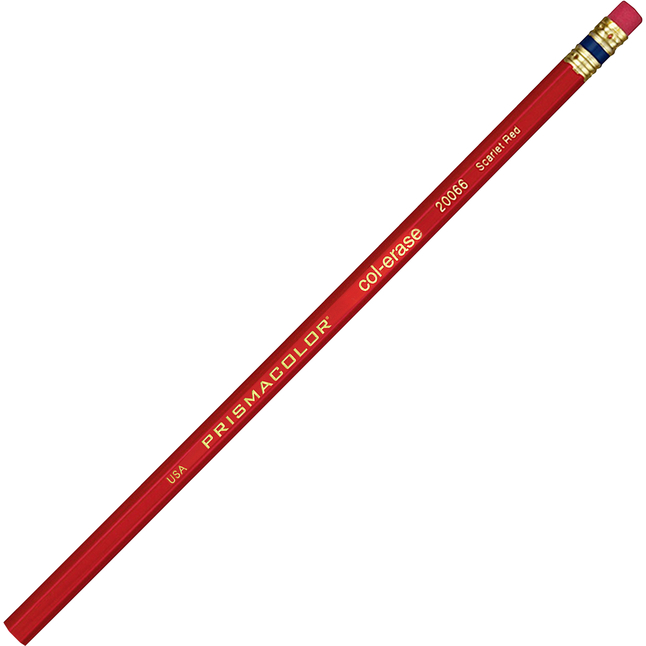 Image for Prismacolor Col-Erase Colored Pencils - Scarlet Red Lead - Scarlet Red Barrel - 12 / Pack from School Specialty