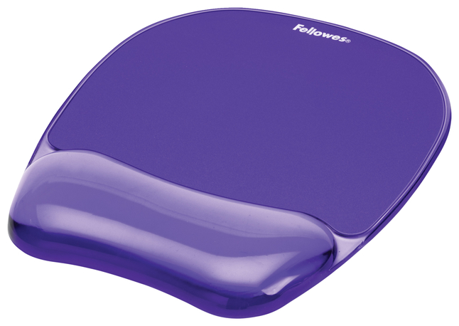 Image for Fellowes Crystals Reg Gel Mousepad Wrist Rest Purple from School Specialty
