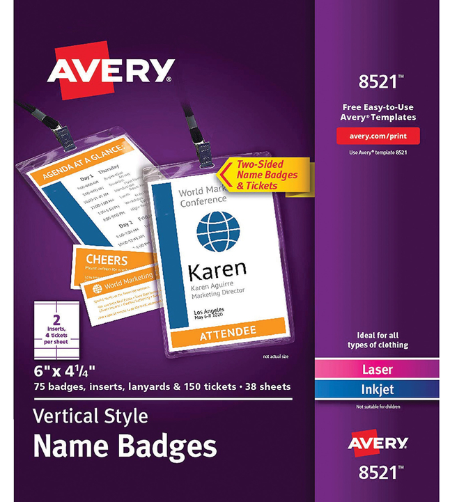 Name Badge Labels, Item Number 2049481