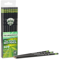 Image for Ticonderoga No. 2 Pencils, #2 Lead, Black Wood Barrel, Pack of 24 from School Specialty