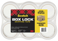 Image for Scotch Box Lock Packaging Tape Refill, Clear, Pack of 6 from School Specialty