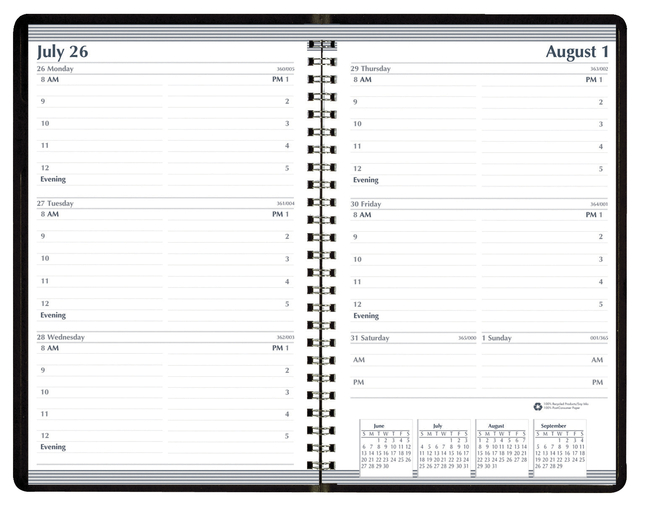 Image for House of Doolittle Academic Weekly Planner, July 2021-July 2022, 5 x 8 Inches, Black Embossed Cover from School Specialty