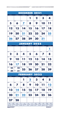 Image for House of Doolittle 3-Month Display Wall Calendar, January to December 2021 from School Specialty