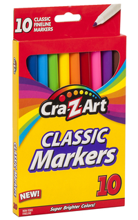 Image for Cra-Z-Art Washable Fine Line Markers, Assorted Colors, Set of 10 from School Specialty