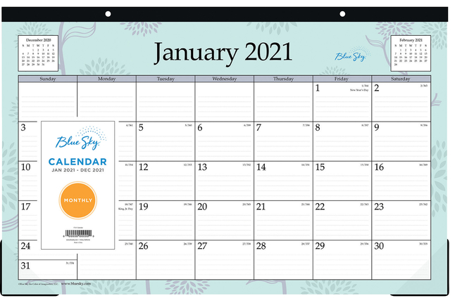 Image for Blue Sky Desk Calendar from School Specialty