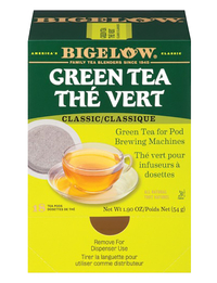 Image for Bigelow Green Tea Pods - Green Tea - Mountain Grown - 1.9 oz - GMO Free - Kosher - 6 Box from School Specialty