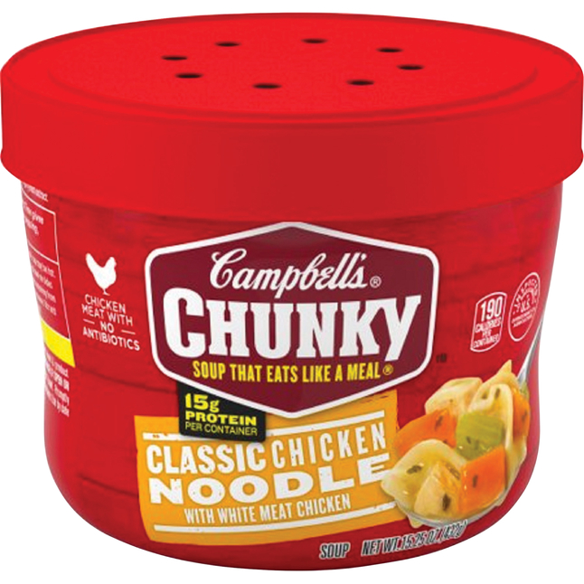 Image for Campbell's Chunky Classic Chicken Noodle Soup, 15.25 Ounces, Case of 8 from School Specialty