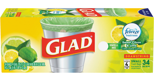 Image for Glad Tall Kitchen Drawstring Trash Bags, ForceFlexPlus Advanced Protection, 4 Gallon, Green, Box of 34 from School Specialty