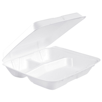 Image for Dart Insulated Food Service Container, 3 Compartments, Polystyrene, Pack of 200 from SSIB2BStore