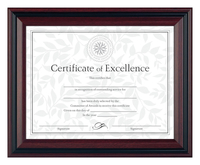 Image for Dax Plastic Document Frame, 13 x 10-1/2 Inches, Rosewood from School Specialty