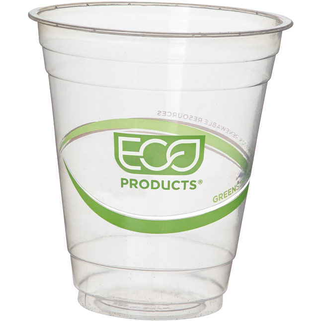 Image for Eco Products Plastic Cold Cups, 12 Ounce, Clear, Pack of 50 from School Specialty