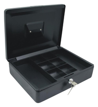 Image for Carl Mfg Steel Cash Box, 4 x 9 Inches, Black from School Specialty