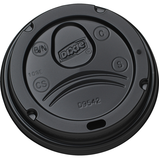 Image for Dixie Hot Cup Dome Lid, Black, Pack of 1000 from School Specialty