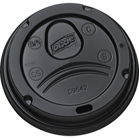 Image for Dixie Hot Cup Dome Lid, Black, Pack of 1000 from SSIB2BStore