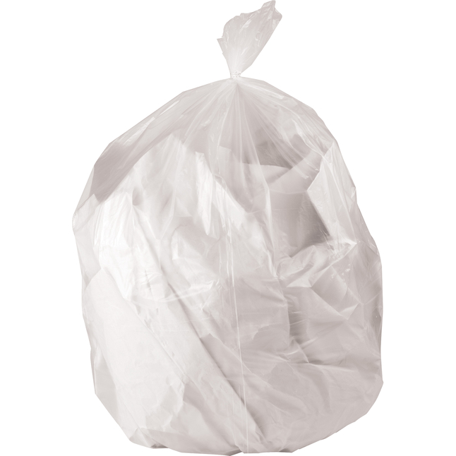 Image for Genuine Joe High-Density Waste Bags, 45 Gallon, Clear, Pack of 150 from School Specialty