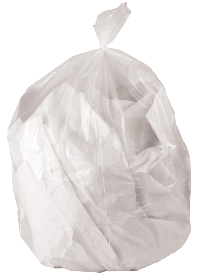 Image for Genuine Joe High-Density Waste Bags, 56 Gallon, Clear, Pack of 150 from School Specialty