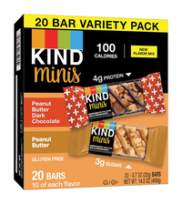 Image for KIND Peanut Butter Variety Pack Mini Snack Bars, Pack of 20 from School Specialty