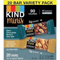 Image for KIND Nuts/Sea Salt Variety Pack Minis Snack Bars, Pack of 20 from School Specialty