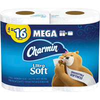 Image for Charmin Ultra Soft Bath Tissue, White, Pack of 4 from SSIB2BStore